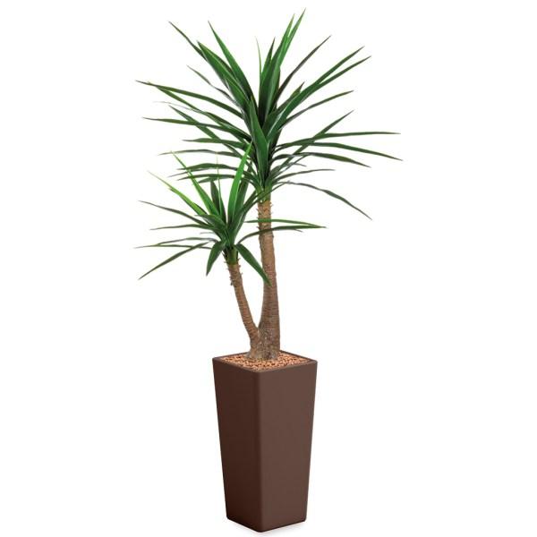 HTT - Kunstplant Yucca in Clou vierkant bruin H185 cm - kunstplantshop.nl