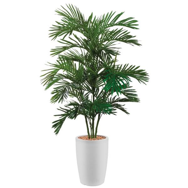 HTT - Kunstplant Areca palm in Genesis rond wit H180 cm - kunstplantshop.nl