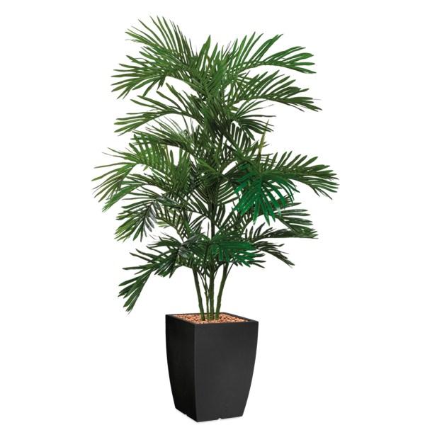 HTT - Kunstplant Areca palm in Genesis vierkant antraciet H180 cm - kunstplantshop.nl