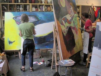 Meisterklasse Großformatige Malerei in der Sommerakademie 2017
