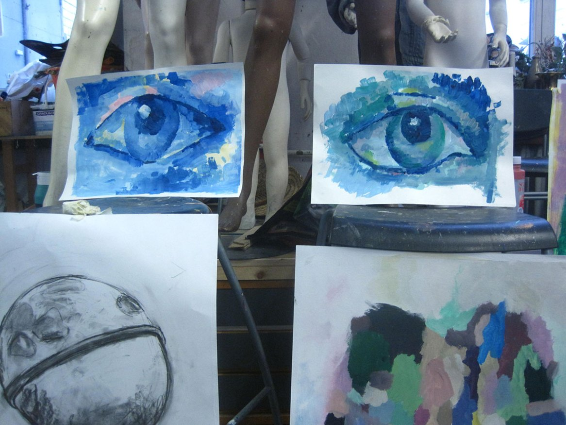 Porträrmalen mit Acrylfarben