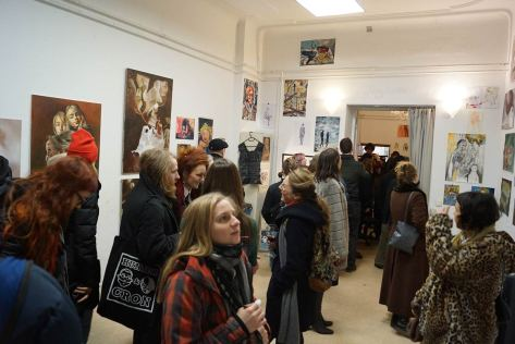 Die Ausstellung war gut besucht