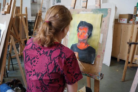 farbenfrohes Porträt