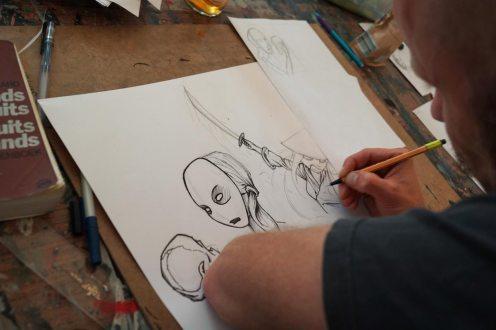 Zeichnung mit Fineliner