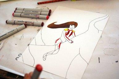 Zeichnung mit Copics