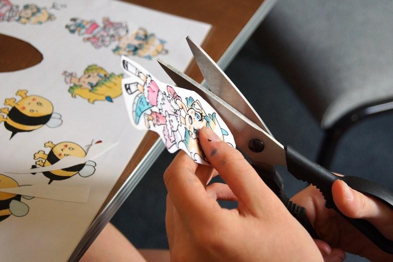 Es wurden auch Sticker produziert