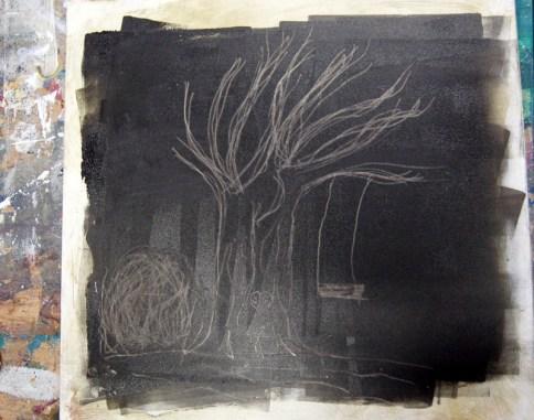 Ein Baum und eine Schaukel