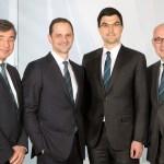 Die aktuelle Geschäftsführung der Engel-Unternehmensgruppe, von links nach rechts: Dr. Peter Neumann, Dr. Christoph Steger, Dr. Stefan Engleder und Dipl-Oec. Klaus Siegmund | Foto: Engel