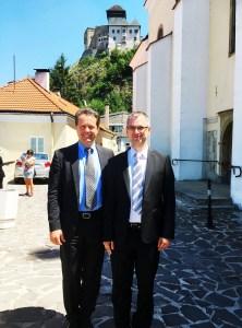 Michael Wittmann (links) mit Juraj Majerský in Trenčin | Foto: Wittmann Battenfeld