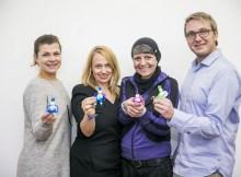 Upcycling-Team Victoria Kadernoschka (Gabarage), Sandra Teja (MAM Babyartikel), Nicola Brandtmayr (Gabarage) und Hans-Peter Wirth (MAM Babyartikel). | Foto: stefanjoham.com