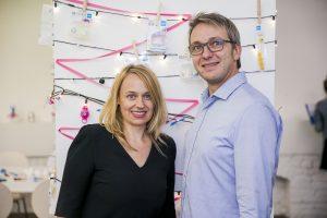 Marketingleiterin und Event-Initiatorin Sandra Teja und MAM CSR Manager Hans-Peter Wirth | Foto: stefanjoham.com