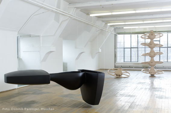 Aequilibration, 2008. Polyester/Moosgummi/Alu. 8-teilig. 420 x 240 x 150 cm.