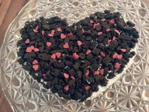 Oreo-Kuchen zum Valentinstag