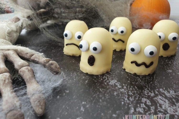 Halloween Mini-Dickmanns Schokolade Zuckeraugen Schokostreuse