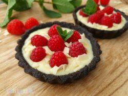 Oreo Himbeer Tartelettes weiße Schokolade