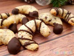 Rezept Kekse Weihnachten Plätzchen Schoko-Orangen-Kipferl