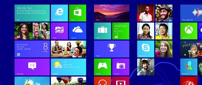 Widows 8 kini sudah tidak mendapatkan dukungan teknis lagi, dan pengguna disarankan untuk upgrade ke Windows 8.1 atau Windows 10 (stock)