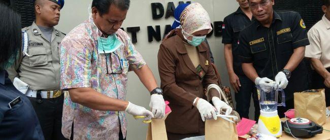 Narkoba jenis sabu dimusnahkan Sat Resnarkoba Polres Tangerang Kota, Selasa (21/1)