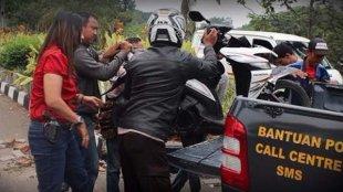 Kecelakaan yang melibatkan Kasat Narkoba Polres Bogor AKP Yuni Purwanti, Rabu 30/3 (dok. KM)