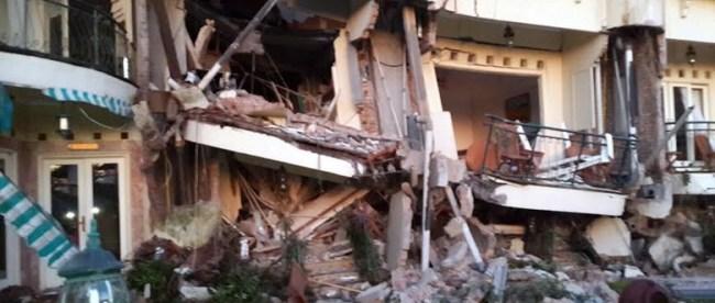 Longsor yang melanda Hotel Club Bali, Cianjur pada 9/3 (dok. detikcom)