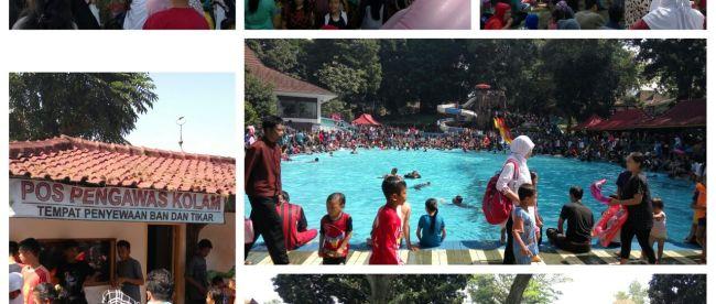 Ribuan pengunjung memadati taman rekreasi Cimalati, Sukabumi, pada Sabtu 9/7 (dok. KM)