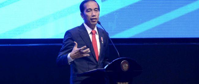 Presiden Joko Widodo memberikan sambutan pada acara Pertemuan Tahunan BI 2017 di Jakarta, Rabu 29/11 (dok. Setpres)