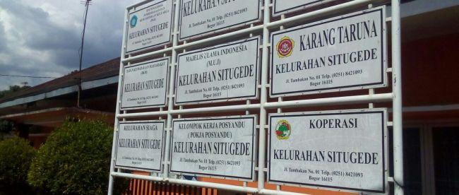 Kantor Kelurahan Situgede Kecamatan Bogor Barat Kota Bogor (dok. KM)