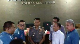 PT. Rakan Sejahtera Utama dengan PT. JGC Indonesia yang berlangsung di Aula Wira Satya Polres Aceh Timur, Selasa (5/6/18)