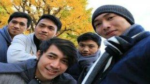 Alumni Gambatte, Vijay, Faisal Pananggung, Jo Wongkar, Bryand Johanes Timbuleng, Rian Kantohe berpose bersama di Jepang, Sabtu 24/11/2018 (istimewa)