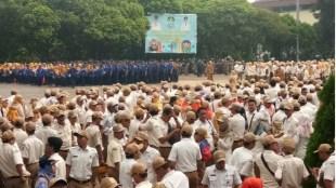 Ribuan ASN pada apel ganbungan di Kantor Walikota Bekasi, Senin 3/12/2018 (dok. KM)