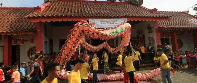 Suasana perayaan Cap Go Meh Klenteng Kong Hwie Kiong di Kebumen pada hari Selasa 19/2/2019 (dok. KM)