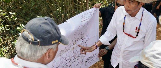 Presiden Joko Widodo memantau lokasi calon ibukota baru di Kalimantan Tengah, Rabu 8/5/2019 (dok. Setpres)