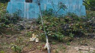 Proyek sarana air bersih yang bersumber dari dana desa. (dok. Fredik Ketti/KM)