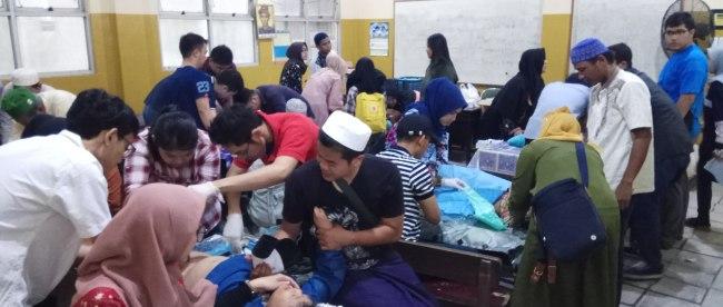 Khitanan masal Haul WI di YPI Adabiyah, Palembang, Sabtu 8/6/2019 (dok. KM)