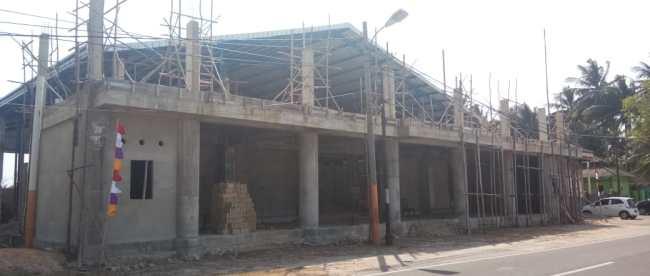 Pembangunan restoran Neptune di kawasan Pantai Pasir Padi, Kota Pangkalpinang (dok. KM)