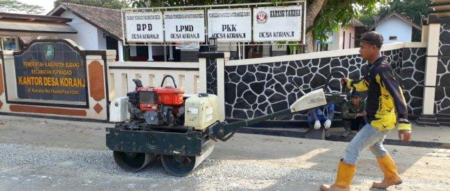 UPTD Pabuaran kerjakan pemeliharaan jalan Kabupaten Marengmang-Wanakerta (dok. KM)