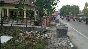 Kondisi salah satu trotoar di Kota Tanjungbalai, Sumatera Utara (dok. KM)