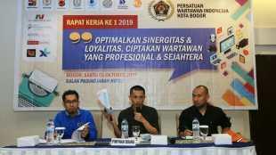Rakerda PWI Kota Bogor di Hotel Salak Pajajaran, Kota Bogor, Sabtu 5/10/2019 (dok. KM)