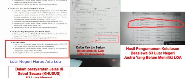 Persyaratan penerima Beasiswa BPSDM Aceh yang diterima KM dari Samsul Bahri, Kamis malam 31/10/2019 (dok. KM)