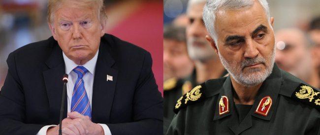 Presiden AS Donald Trump, tokoh militer Iran Jenderal Qassem Soleimani (dok. FOX 2 Detroit)