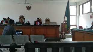 Sidang kasus mantan Sekdis DPKPP Kabupaten Bogor di Pengadilan Tipikor Bandung (dok. KM)