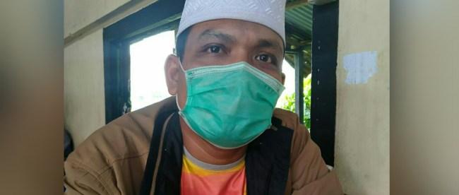 Hafidz Prayoga Marpaung saat memberi keterangan kepada wartawan KM di kantin Rumah sakit umum Tengku Mansyur Kota Tanjungbalai (dok. KM)