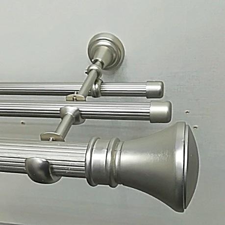 Люксор 25 мм Карниз Трёхрядный