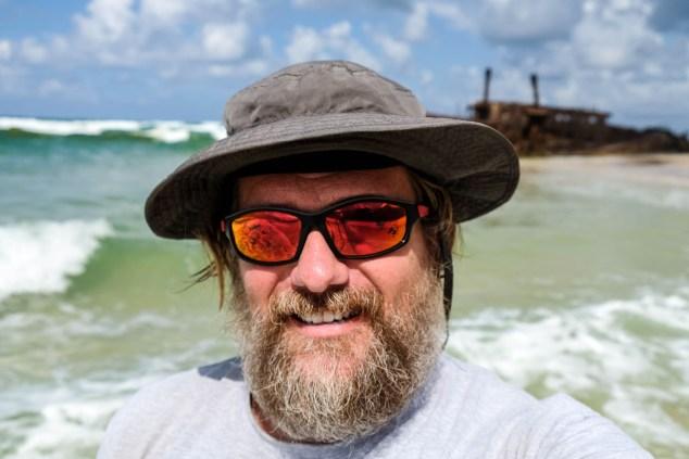 Ein Tourist Auf Fraser Island