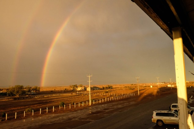 The Marree Hotel Mit Regenbogen