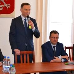 Europoseł Andrzej Duda kandydat na Prezydenta RP odwiedził Ostrów
