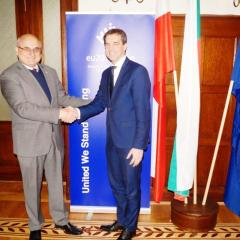 Burmistrz Kobyłki z wizytą u Ambasadora Bułgarii