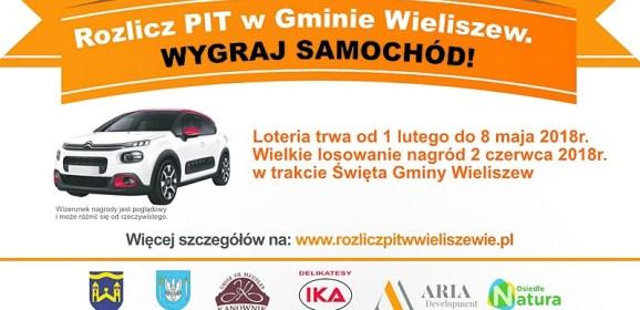 Wielka loteria w Wieliszewie! Rozlicz PIT w gminie i wygraj samochód!!!
