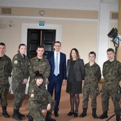 Uczniowie z Wołomina i Zielonki na spotkaniu z Premierem RP Mateuszem Morawieckim!