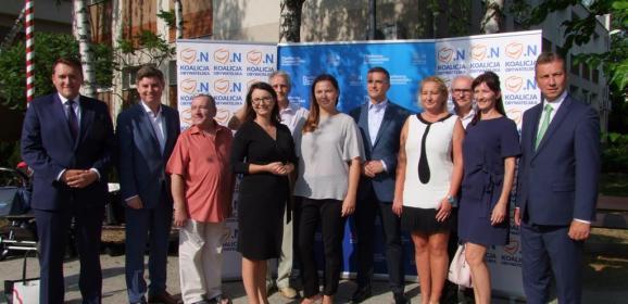 Koalicja Obywatelska w Legionowie zawiązana – wspólna konferencja w centrum miasta